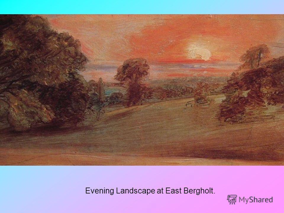 Evening Landscape at East Bergholt.