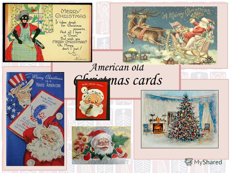 American old Christmas cards