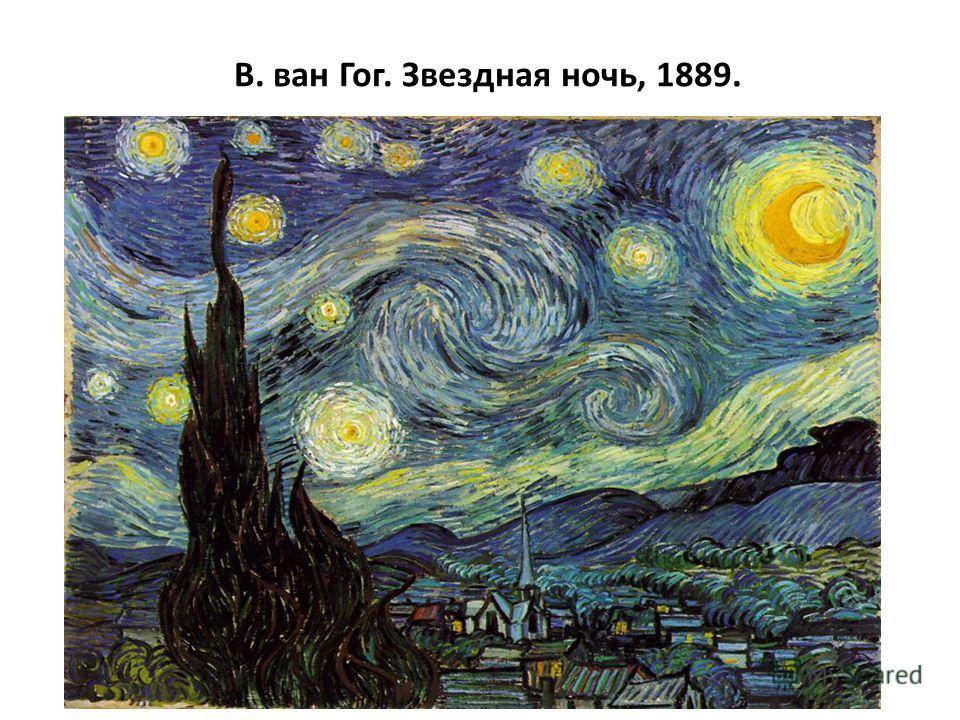 В. ван Гог. Звездная ночь, 1889.