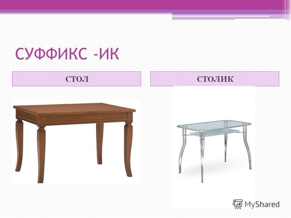 СУФФИКС -ИК СТОЛСТОЛИК