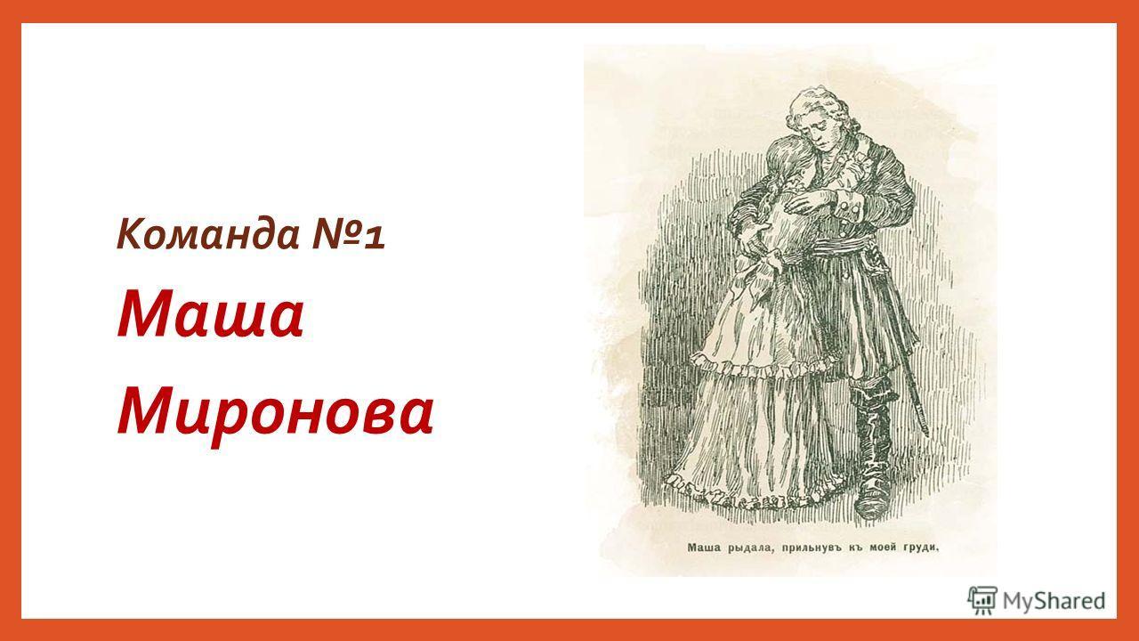 Команда 1 Маша Миронова