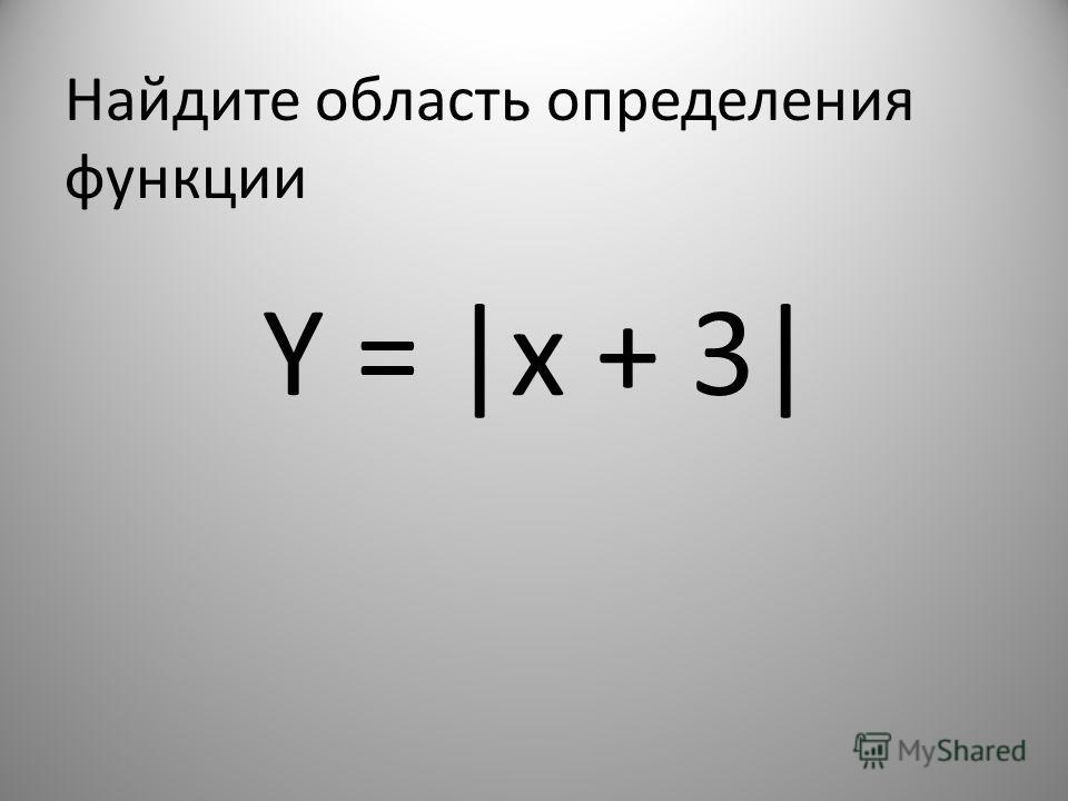 Найдите область определения функции Y = |x + 3|