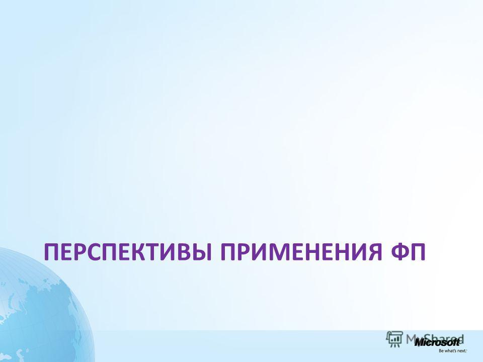 ПЕРСПЕКТИВЫ ПРИМЕНЕНИЯ ФП