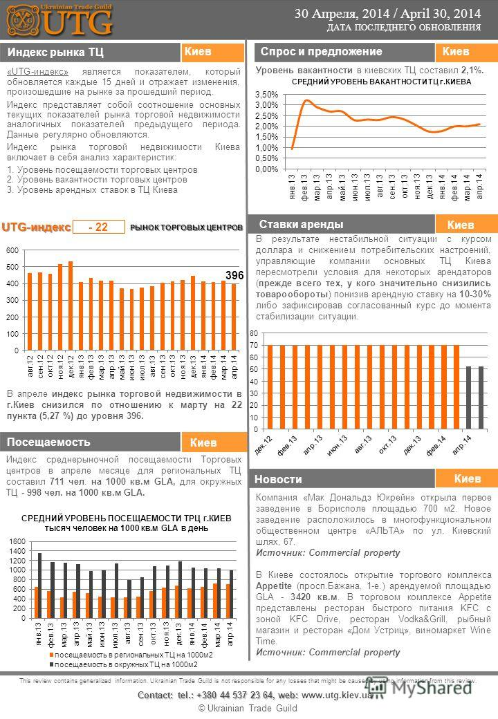 © Ukrainian Trade Guild This review contains generalized information. Ukrainian Trade Guild is not responsible for any losses that might be caused by using information from this review. Contact: tel.: +380 44 537 23 64, web: Contact: tel.: +380 44 53