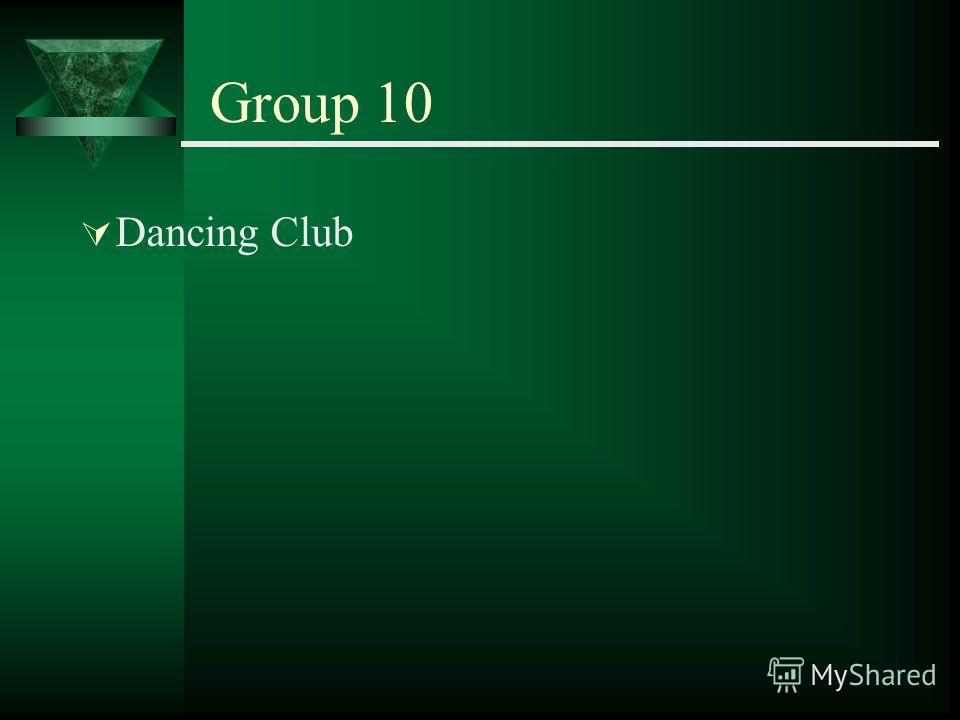 Group 10 Dancing Club