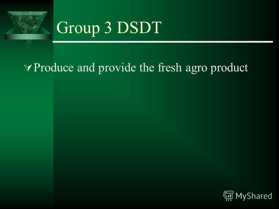 Group 3 DSDT Produce and provide the fresh agro product