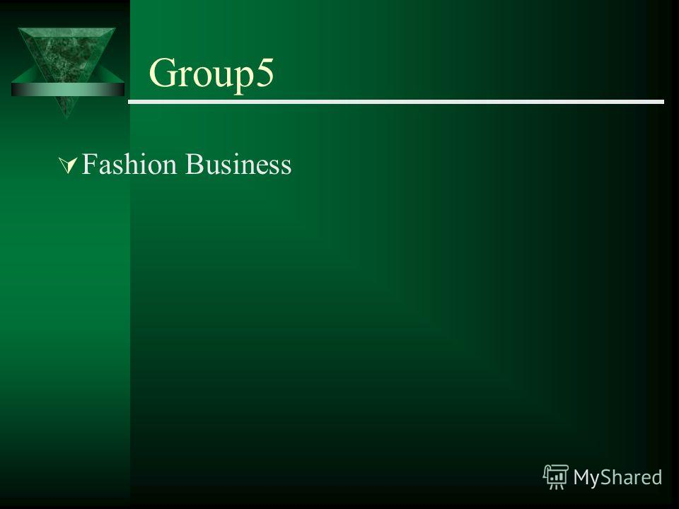 Group5 Fashion Business