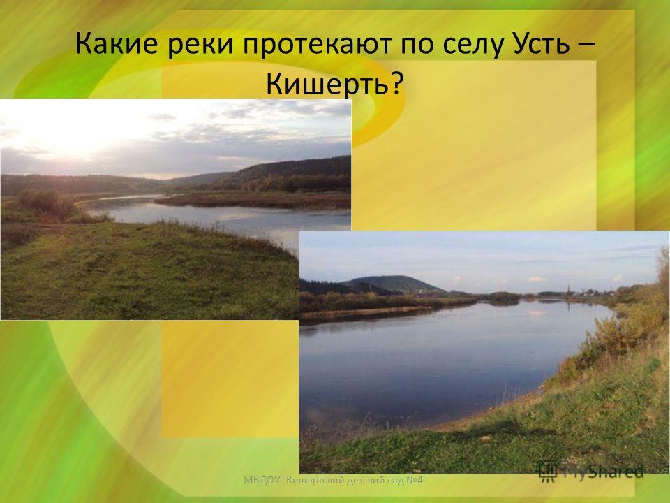 Какие реки протекают по селу Усть – Кишерть? МКДОУ Кишертский детский сад 4