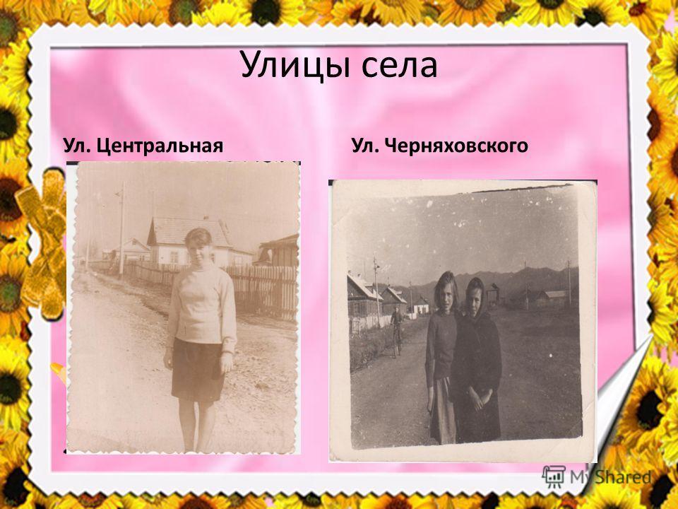 Улицы села Ул. Центральная Ул. Черняховского