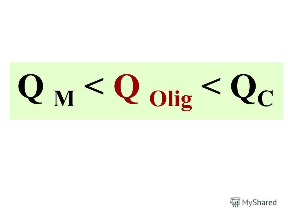 Q M < Q Olig < Q C
