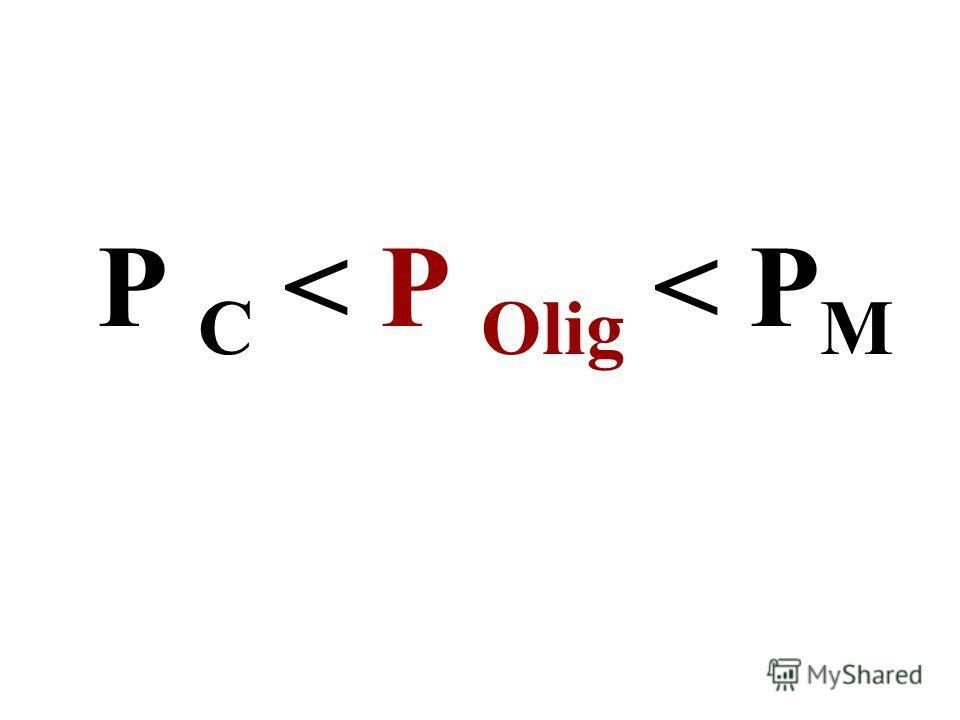 P C < P Olig < P M