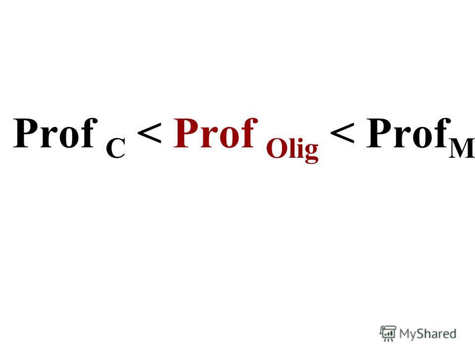 Prof C < Prof Olig < Prof M