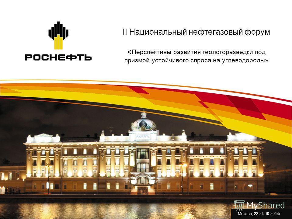 II Национальный нефтегазовый форум « Перспективы развития геологоразведки под призмой устойчивого спроса на углеводороды» Москва, 22-24.10.2014 г