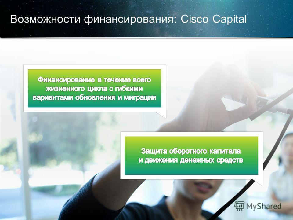 © Корпорация Cisco и/или ее дочерние компании, 2013. Все права защищены. Конфиденциальная информация корпорации Cisco 20 Возможности финансирования: Cisco Capital