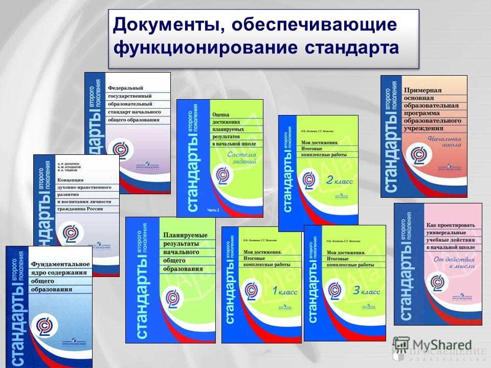 Документы, обеспечивающие функционирование стандарта Документы, обеспечивающие функционирование стандарта