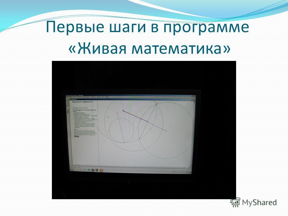 Первые шаги в программе «Живая математика»