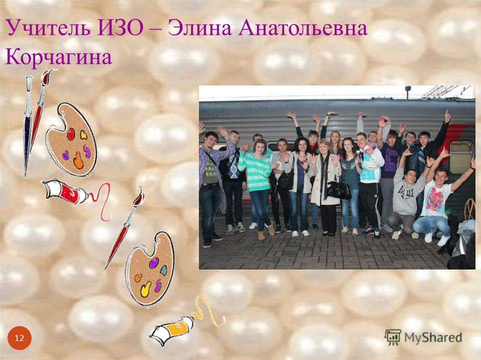 12 Учитель ИЗО – Элина Анатольевна Корчагина
