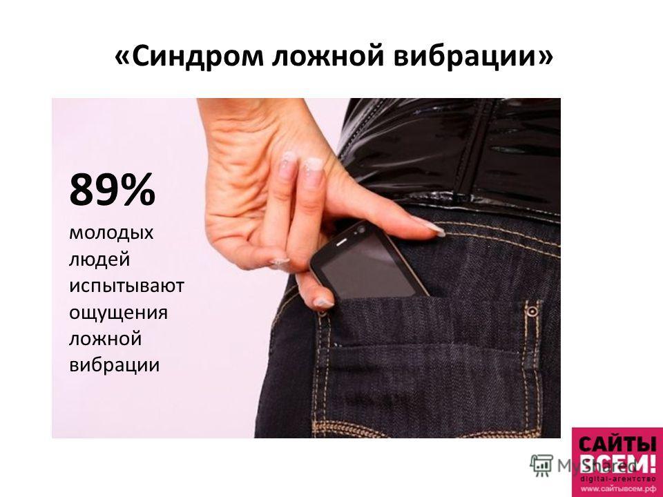 «Синдром ложной вибрации» 89% молодых людей испытывают ощущения ложной вибрации