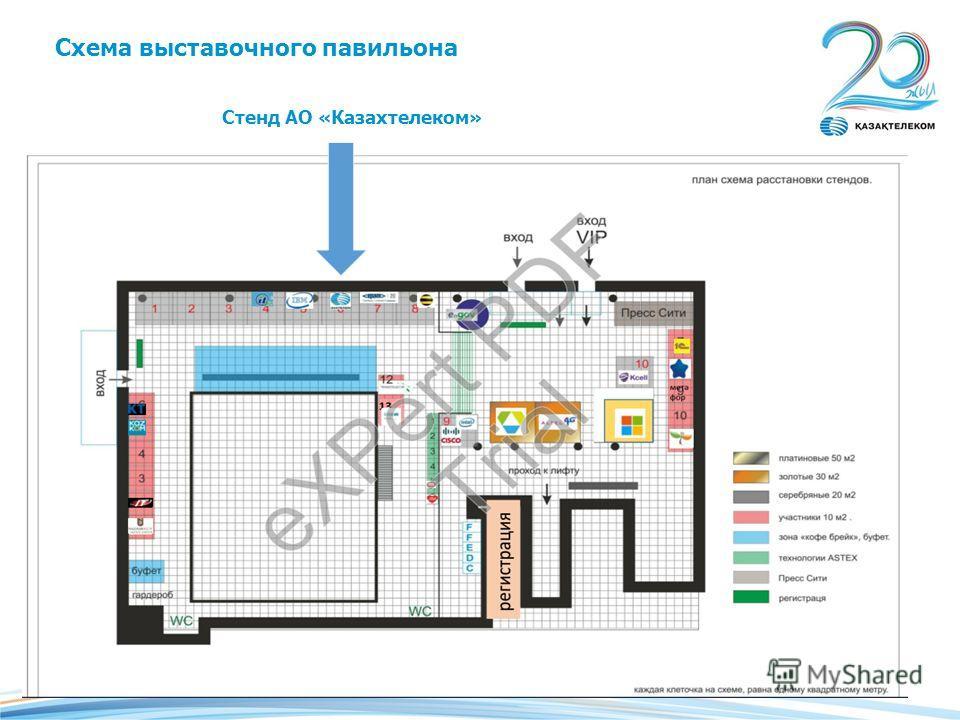 Стенд АО «Казахтелеком» Схема выставочного павильона