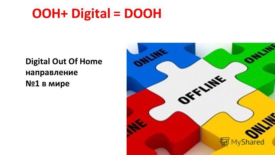 ООН+ Digital = DOOH Digital Out Of Home направление 1 в мире