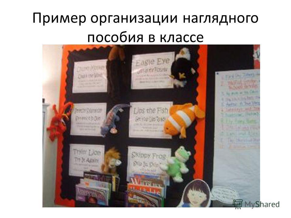 Пример организации наглядного пособия в классе