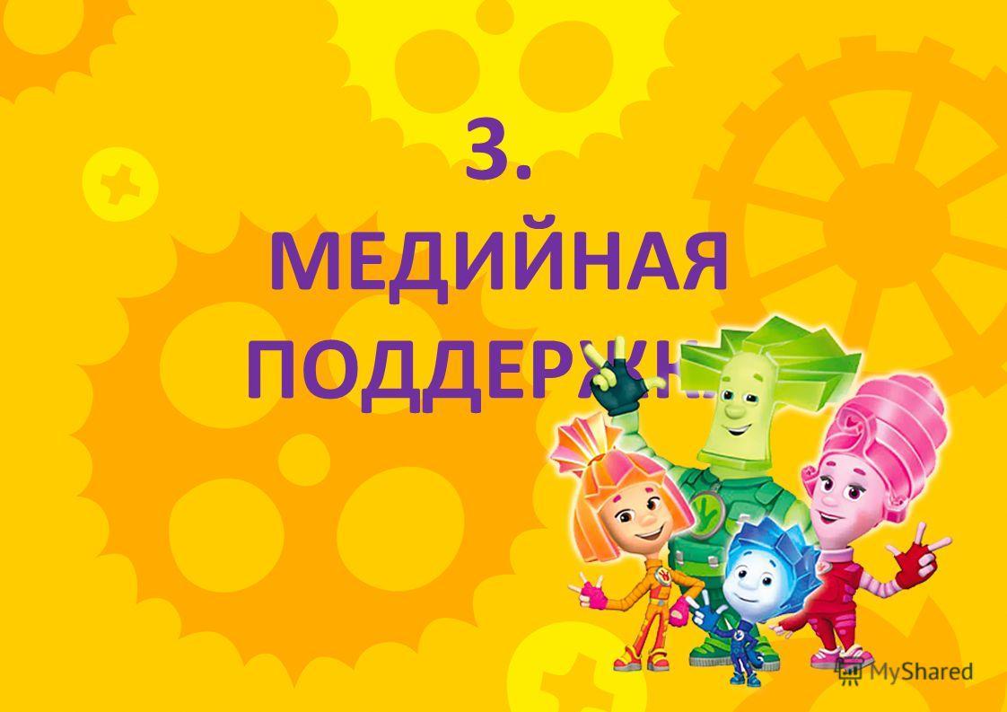 3. МЕДИЙНАЯ ПОДДЕРЖКА