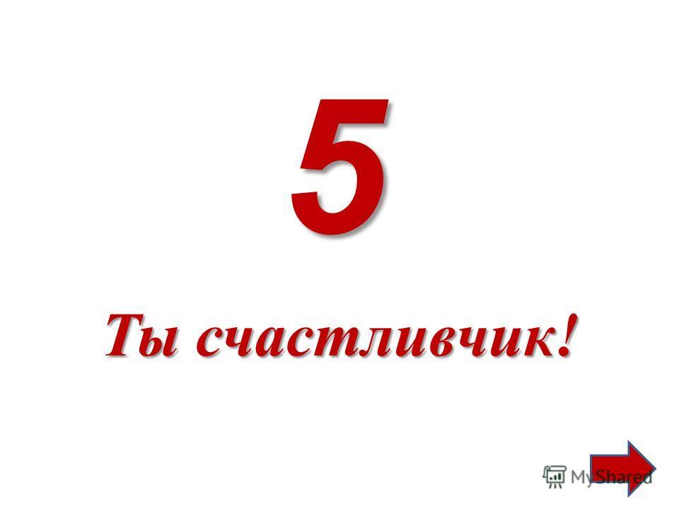 5 Ты счастливчик!
