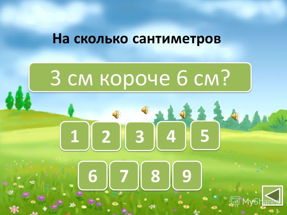 3 см и 1 см? 9 9 8 8 7 7 6 6 5 5 4 4 3 3 2 2 1 1 Какова сумма длин отрезков