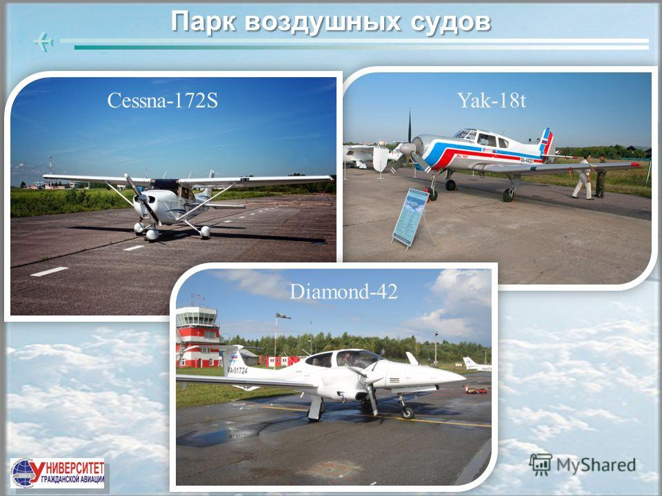 Парк воздушных судов Yak-18tCessna-172S Diamond-42