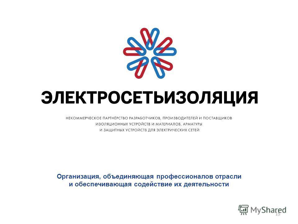 15 Организация, объединяющая профессионалов отрасли и обеспечивающая содействие их деятельности