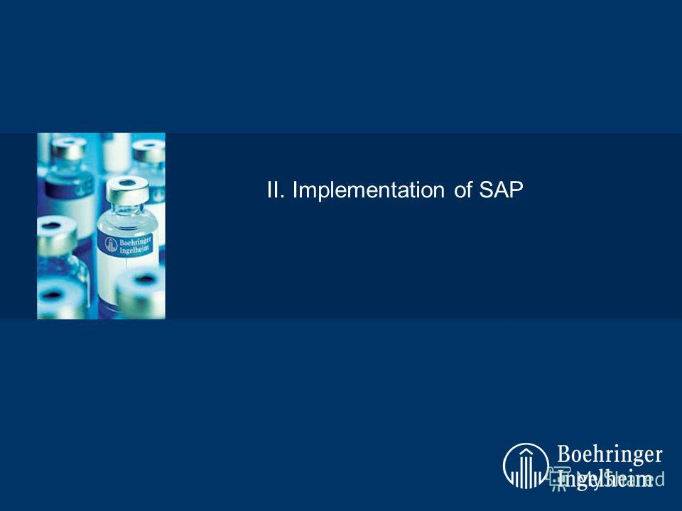 II.Implementation of SAP