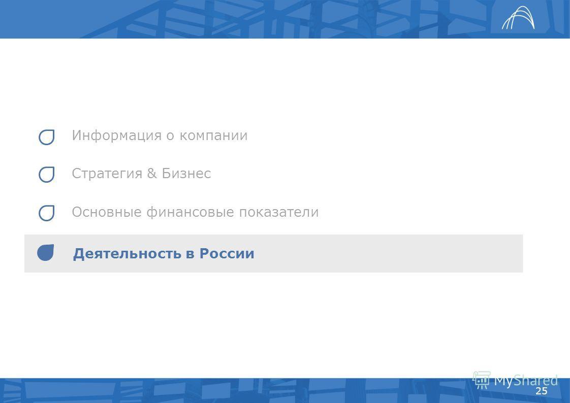 Информация о компании Стратегия & Бизнес Основные финансовые показатели 25 Деятельность в России