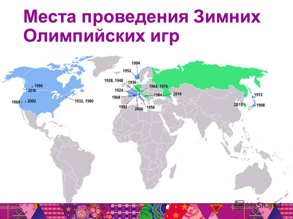 Места проведения Зимних Олимпийских игр