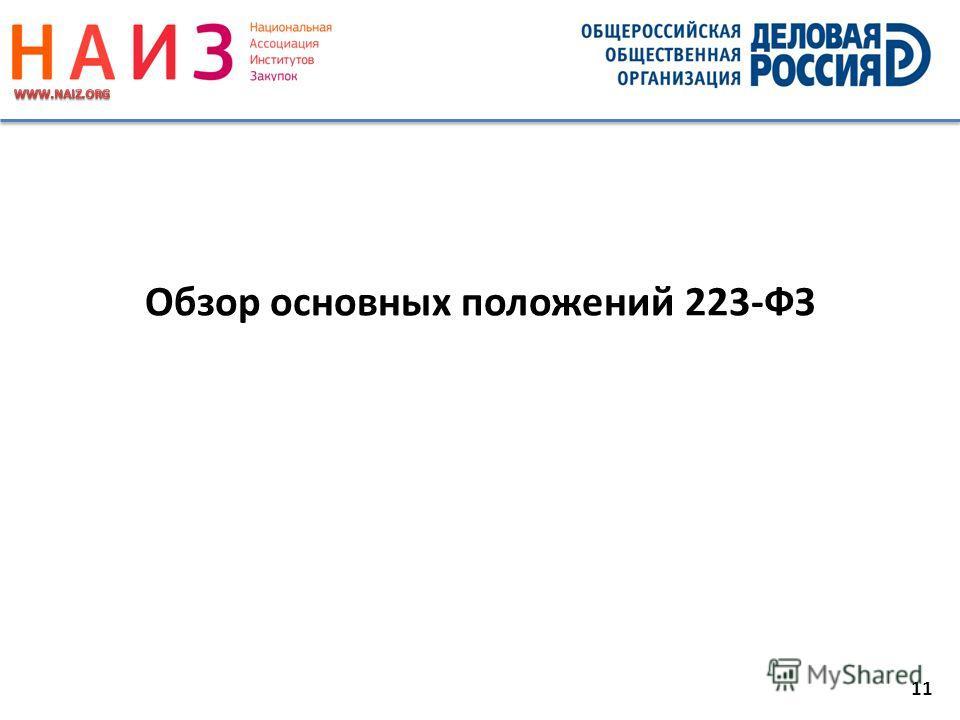 11 Обзор основных положений 223-ФЗ