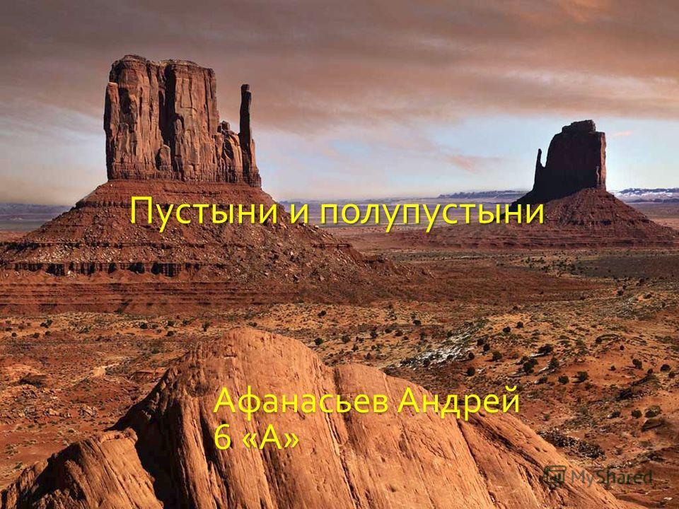 Пустыни и полупустыни Афанасьев Андрей 6 « А »