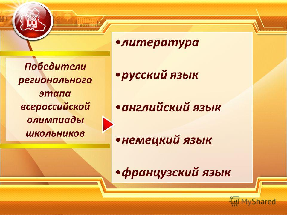 Победители регионального этапа всероссийской олимпиады школьников литература русский язык английский язык немецкий язык французский язык