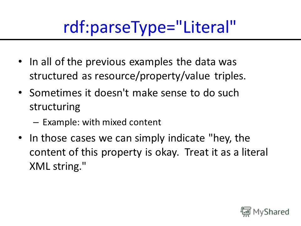 rdf:parseType=