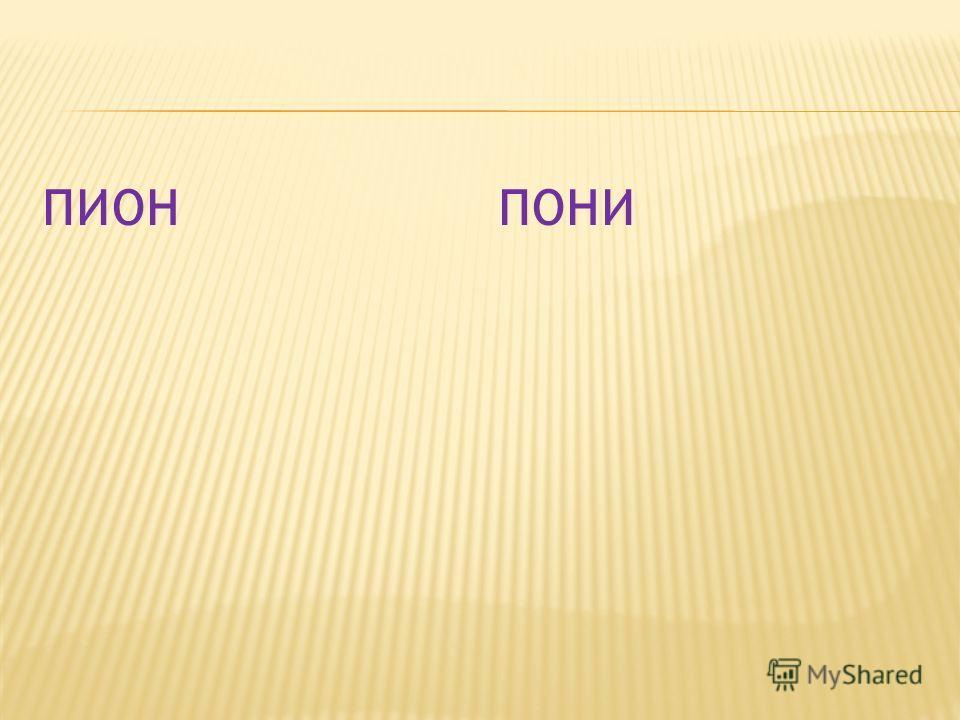 ПИОНПОНИ