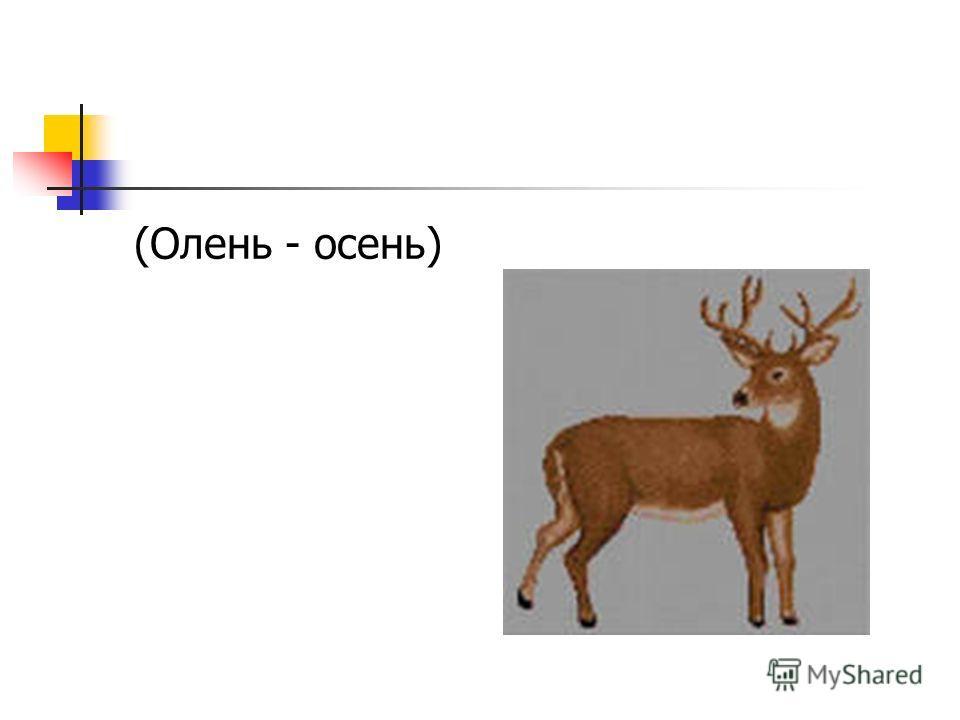 (Олень - осень)