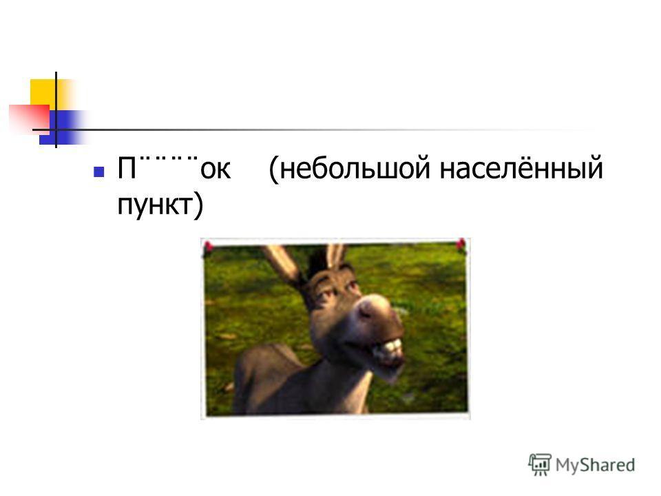 П¨¨¨¨ок (небольшой населённый пункт)