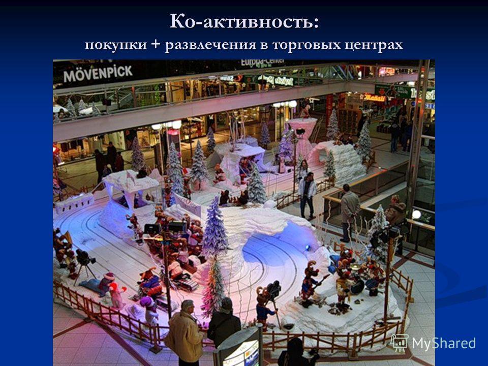 Ко-активность: покупки + развлечения в торговых центрах