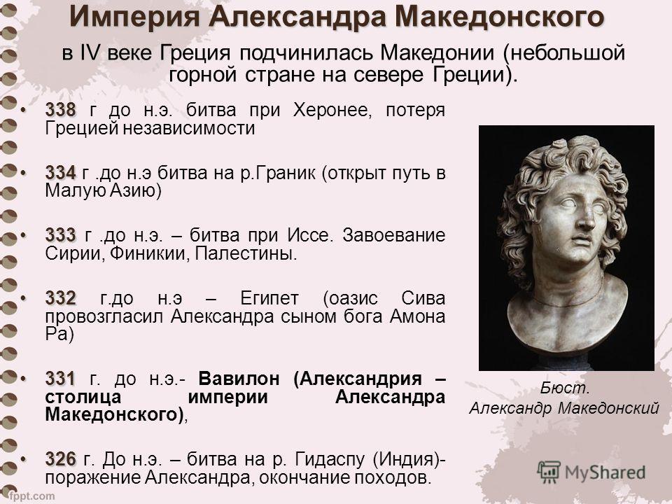 С событиями какого века связано имя александра