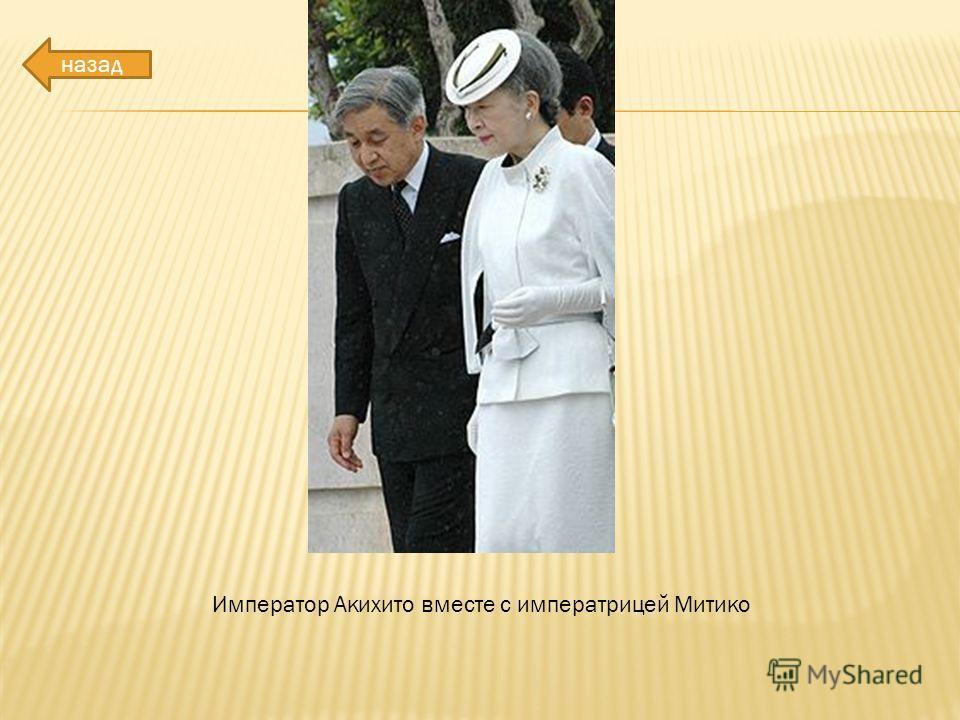 Император Акихито вместе с императрицей Митико назад