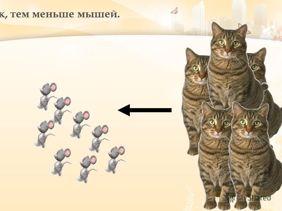 Чем больше кошек, тем меньше мышей.