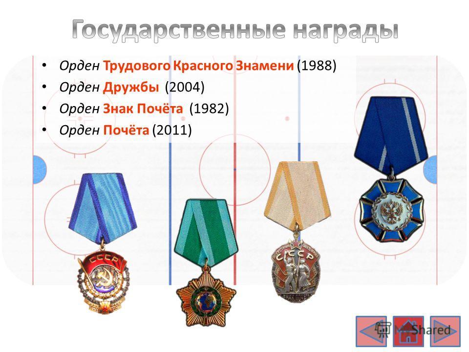 Орден Трудового Красного Знамени (1988) Орден Дружбы (2004) Орден Знак Почёта (1982) Орден Почёта (2011)