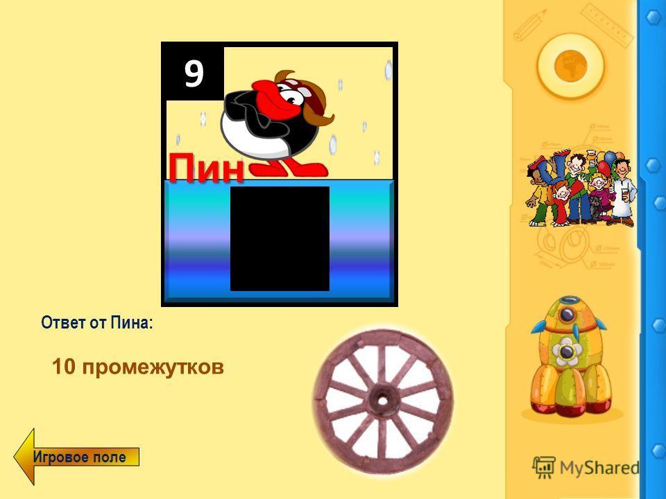Александрова З.В., п.Печенга, 2011 год Зинаида 9 Пин Вопрос от Пина: Ответ от Пина Колесо имеет 10 спиц. Сколько промежутков между спицами?