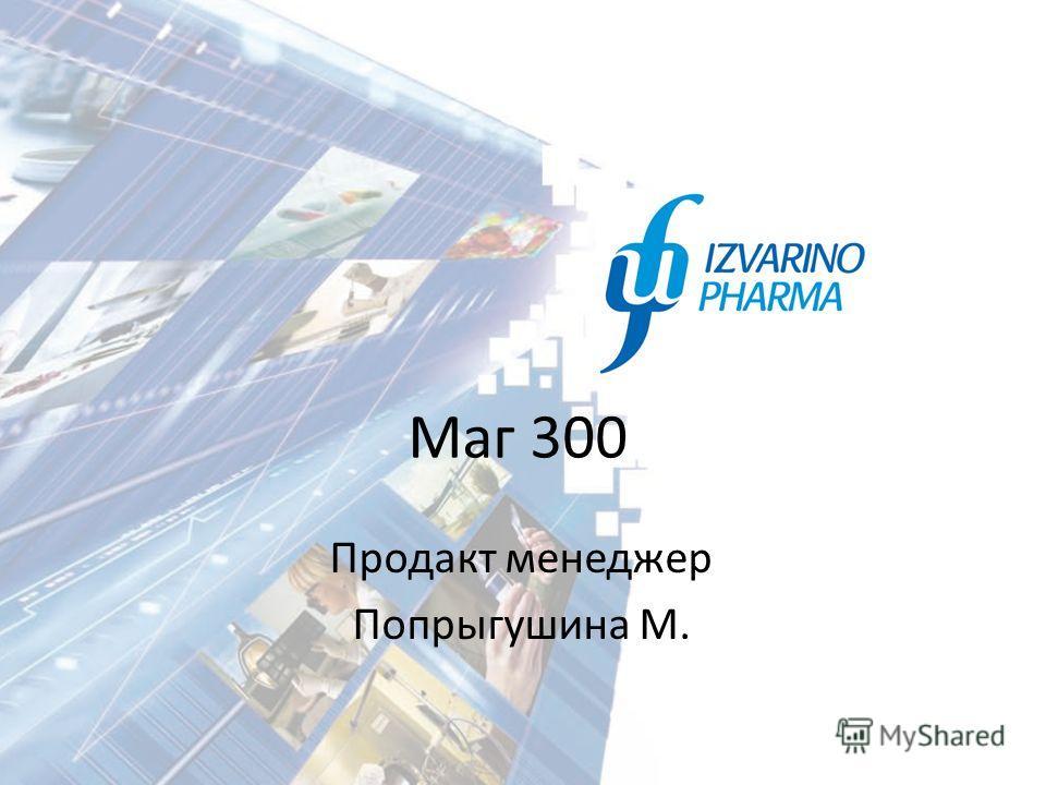 Маг 300 Продакт менеджер Попрыгушина М.