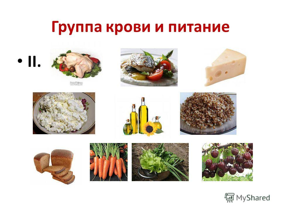 Группа крови и питание II.