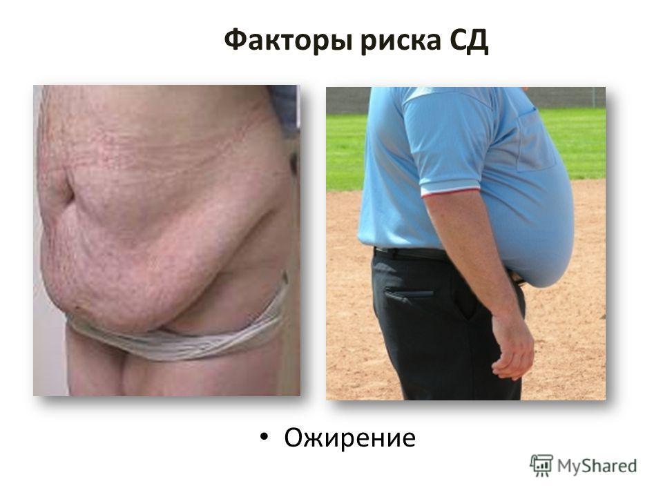 Факторы риска СД Ожирение