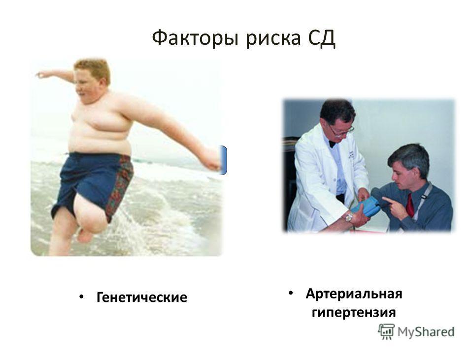Факторы риска СД Генетические Артериальная гипертензия